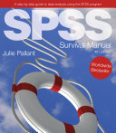SPSS Survival Manual: A step by step guide to data analysis using the SPSS program