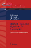 download ebook stochastic recursive algorithms for optimization pdf epub