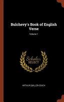 Bulchevy's Book of English Verse;
