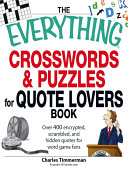 The Everything Crosswords and Puzzles for Quote Lovers Book