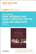 Mcdonald And Avery S Dentistry For The Child And Adolescent E Book On Kno Retail Access Card book