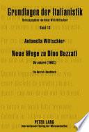 Neue Wege zu Dino Buzzati