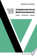 Aufgabensammlung Maschinenelemente