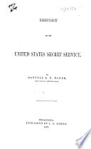 History of the United States Secret Service Book PDF