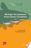 Biologie des poissons d'eau douce européens (2e éd.)