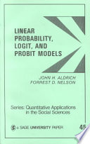 Linear Probability  Logit  and Probit Models