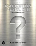 Marketing Research: An Applied Orientation