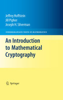 An Introduction to Mathematical Cryptography