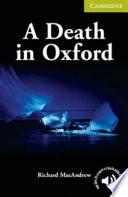 A Death in Oxford Starter Beginner