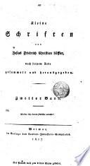 Kleine Schriften von Josias Friedrich Christian Löffler, nach seinem Tode gesammelt und herausgegeben