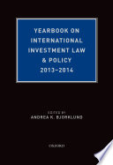 Yearbook on International Investment Law   Policy 2013 2014