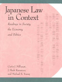 Japanese law in context