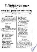 Pf  lzische Bl  tter f  r Geschichte  Poesie und Unterhaltung