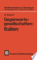 Gegenwartsgesellschaften: Italien