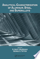 Analytical Characterization of Aluminum  Steel  and Superalloys