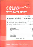 The American Music Teacher Book PDF