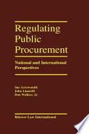 Regulation Public Procurement   National and International Perspectives