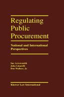 Regulation Public Procurement - National and International Perspectives