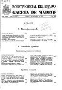 Boletâin oficial del estado: Gaceta de Madrid