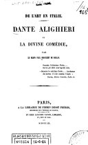 De l'art en Italie: Dante Alighieri et la Divine Comédie