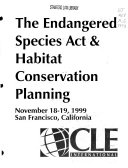 The Endangered Species Act   habitat conservation planning