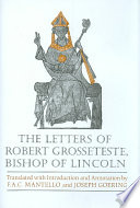 The Letters of Robert Grosseteste, Bishop of Lincoln