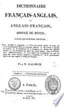 Dictionnaire français-anglais et anglais-français, abrégé