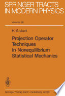 Projection Operator Techniques in Nonequilibrium Statistical Mechanics