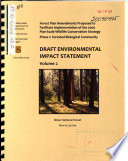 Forest Plan Amendments Proposed to Facilitate Implementation of the 2009 Plan Scale Wildlife Conservation Strategy  Phase 1  Forested Biological Community