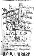 Livestock Brands Recorded in Oregon