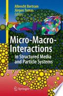 Micro Macro Interactions book