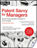 Patent Savvy for Managers