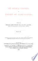 The Metrical Chronicle of Robert of Gloucester