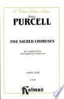 Five Sacred Choruses