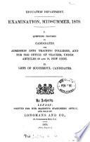 Examination,Midsummer,1879