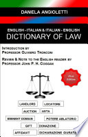 English   Italian   Italian   English Dictionary of Law