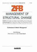 Management of Structural Change
