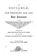 download ebook the sociable, or, one thousand and one home amusements ... pdf epub