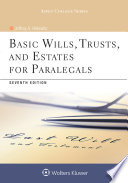 Basic Wills Trusts And Estates For Paralegals