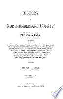 History of Northumberland County  Pennsylvania