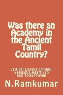 Was There an Academy in the Ancient Tamil Country