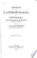 Archivio per l'antropologia e la etnologia