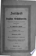 Zeitschrift des bergischen Geschichtsverein