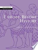 Europe Before History