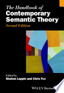The Handbook of Contemporary Semantic Theory