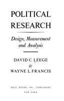 Political research: design, measurement, and analysis