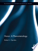 Honor  A Phenomenology