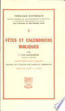 Fetes Et Calendriers Bibliques