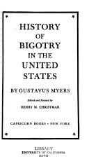 History of bigotry in the United States