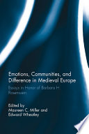 Emotions Communities And Difference In Medieval Europe